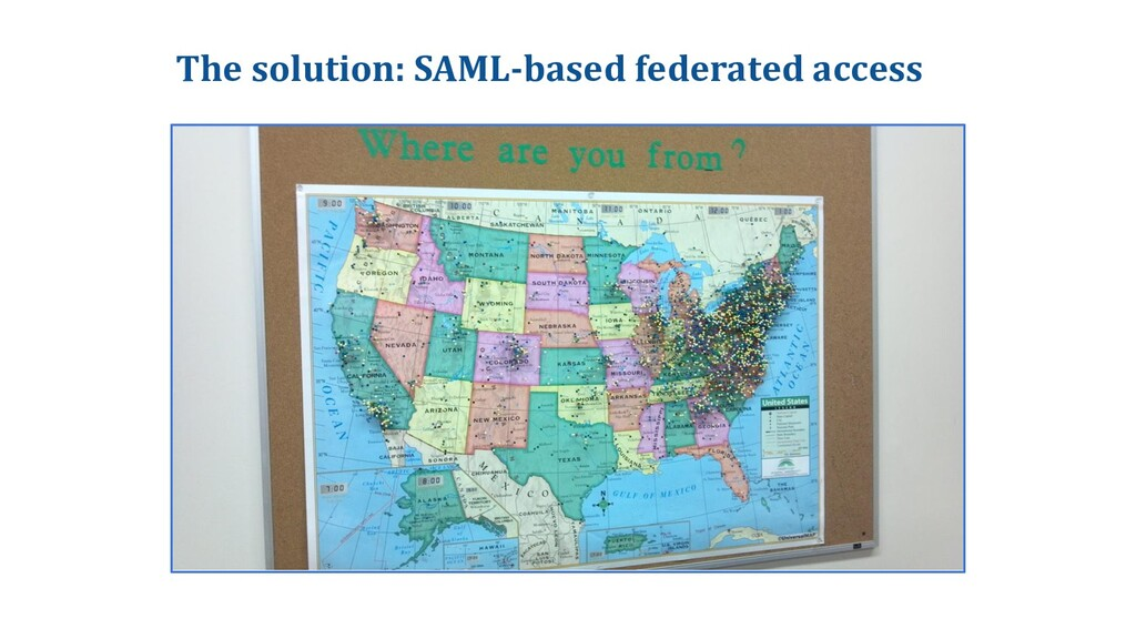 The solution: SAML-based federated access