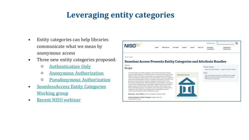 Leveraging entity categories • Entity categorie...
