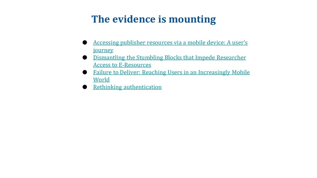 The evidence is mounting ● Accessing publisher ...