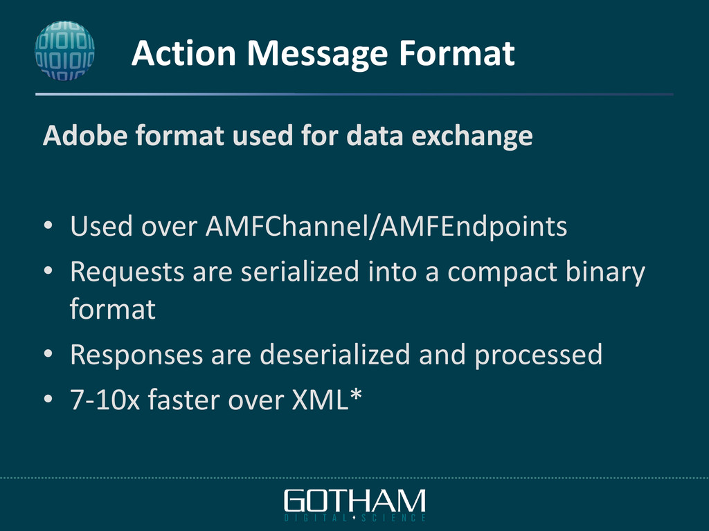 Action Message Format Adobe format used for dat...