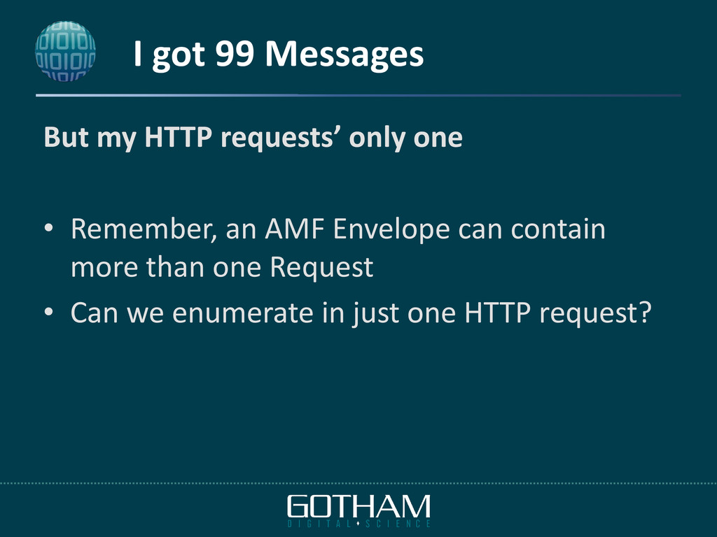 I got 99 Messages But my HTTP requests' only on...