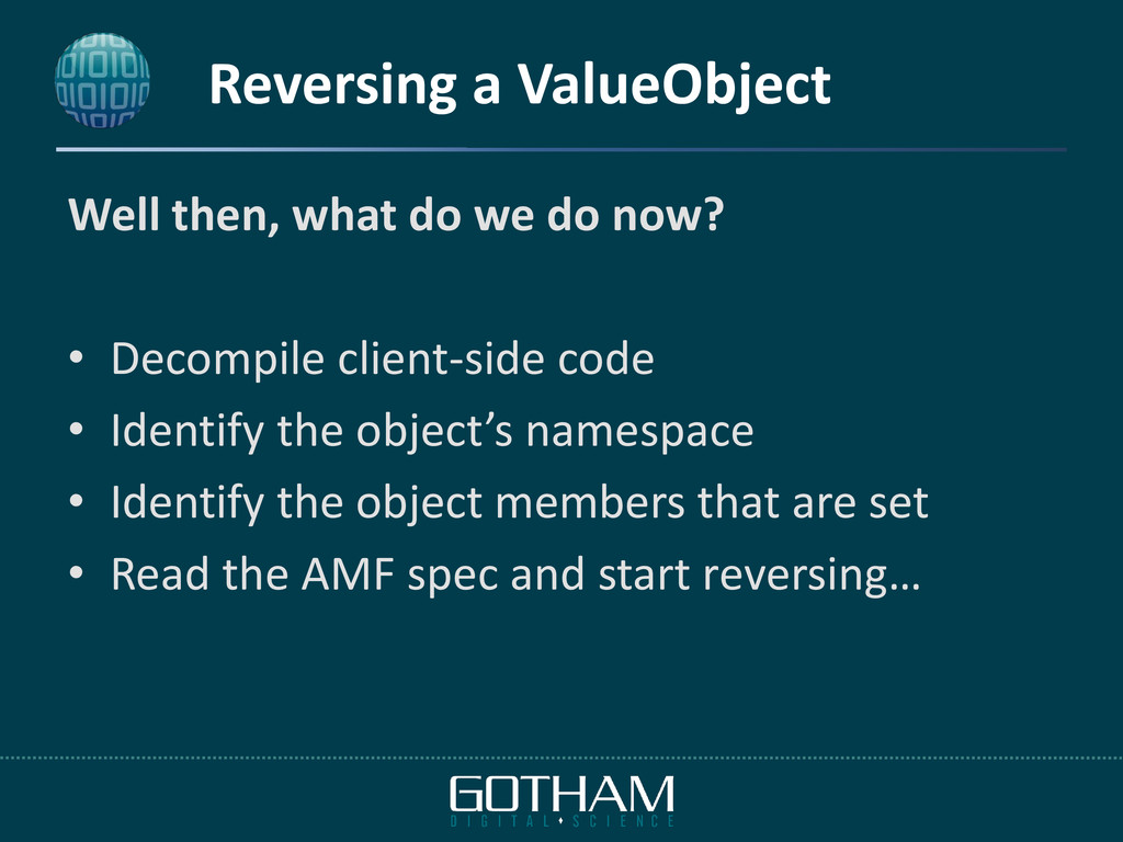 Reversing a ValueObject Well then, what do we d...