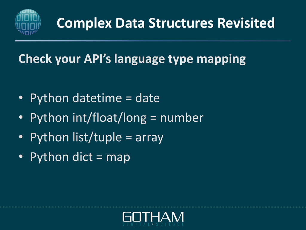 Complex Data Structures Revisited Check your AP...