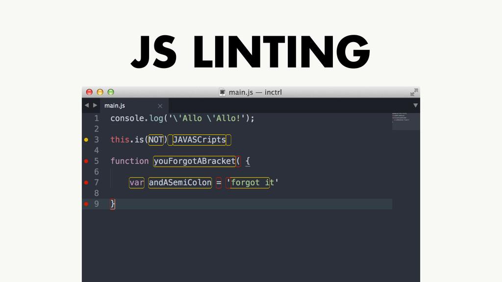 JS LINTING