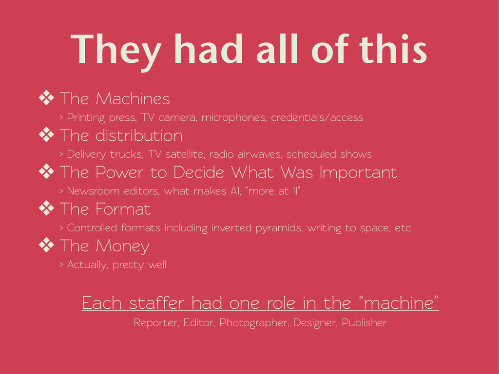 They had all of this ❖ The Machines > Printing...