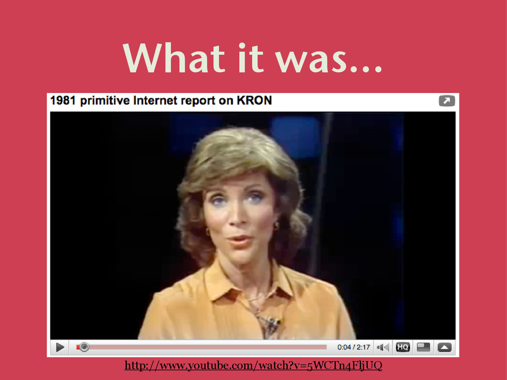 What it was... http://www.youtube.com/watch?v=5...