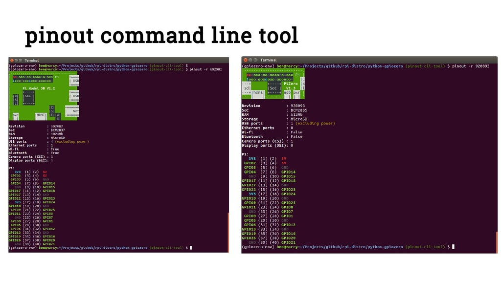 pinout command line tool