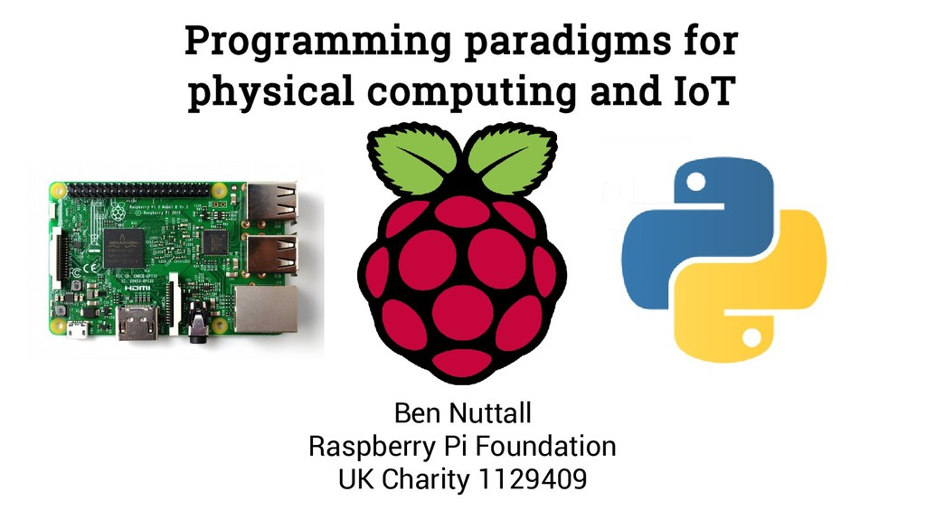Programming paradigms for physical computing an...