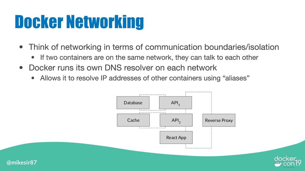 @mikesir87 Docker Networking API 1 Database Rev...
