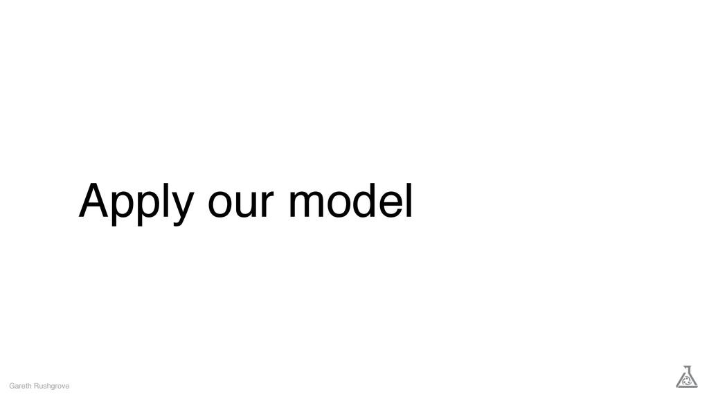 Apply our model Gareth Rushgrove