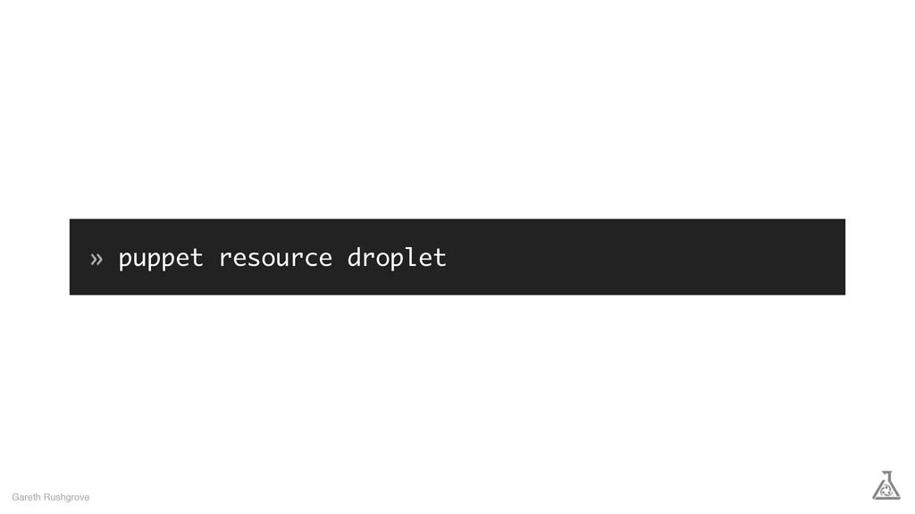 » puppet resource droplet Gareth Rushgrove