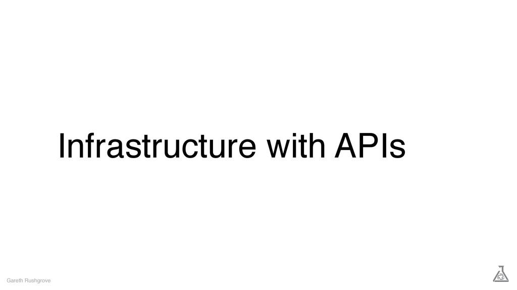 Infrastructure with APIs Gareth Rushgrove