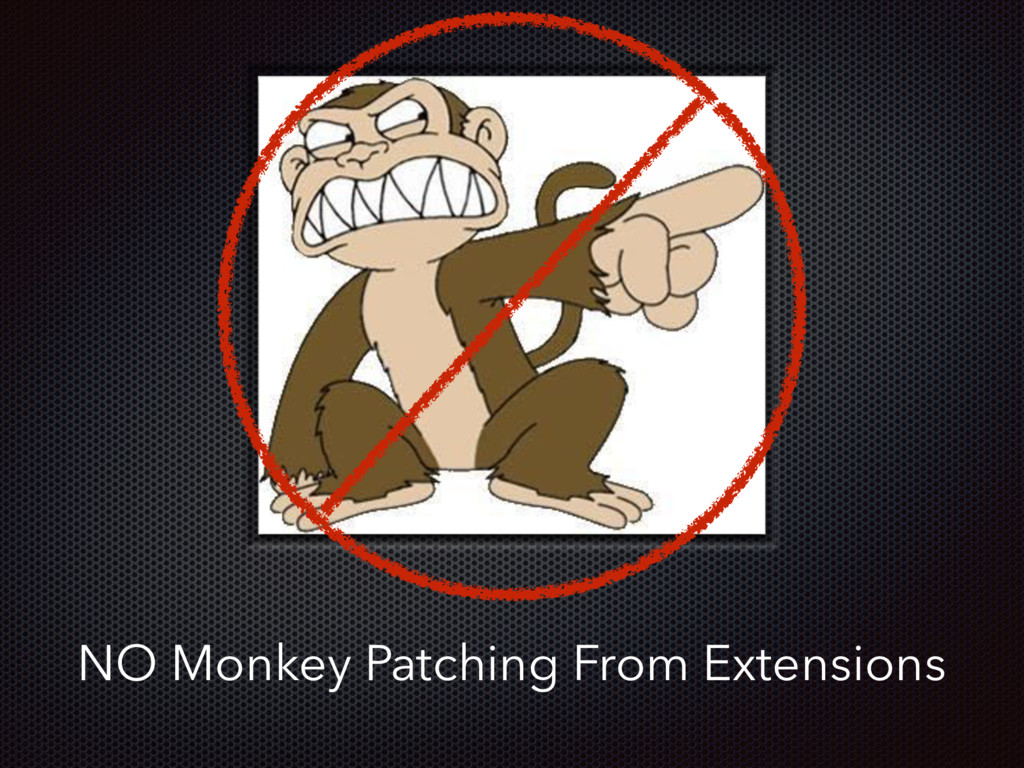 NO Monkey Patching From Extensions