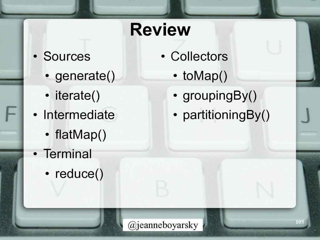 @jeanneboyarsky Review • Sources • generate() •...