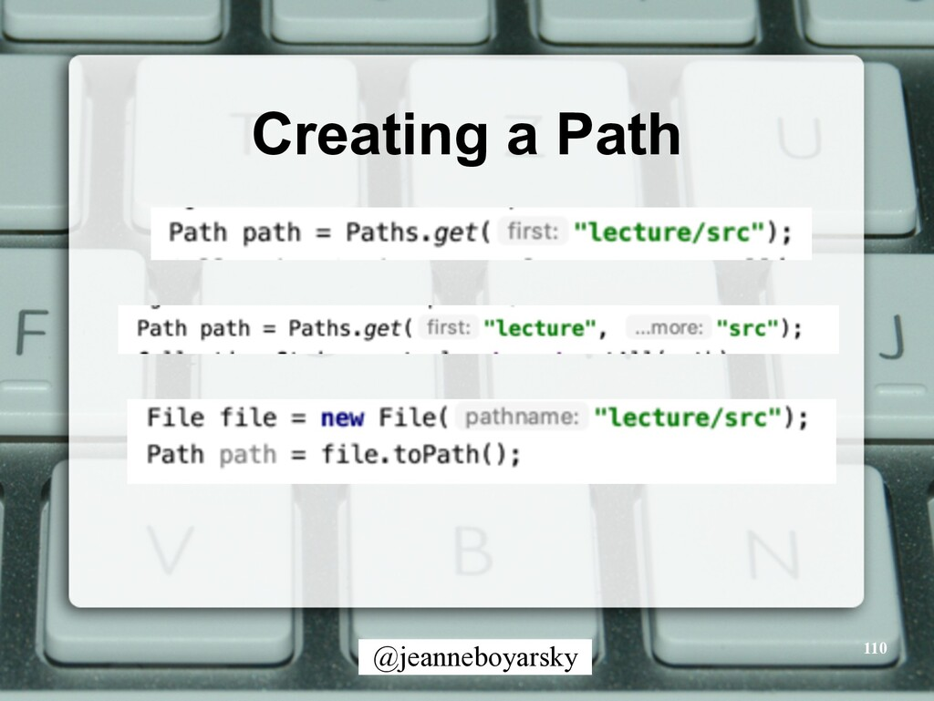 @jeanneboyarsky Creating a Path 110