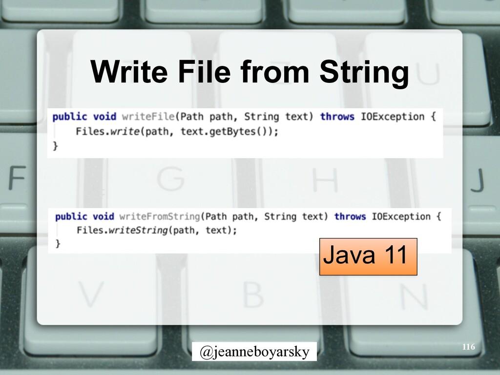 @jeanneboyarsky Write File from String 116 Java...