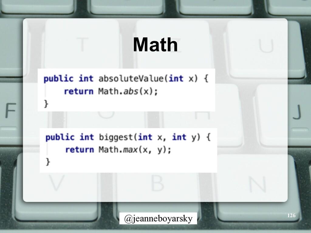 @jeanneboyarsky Math 126