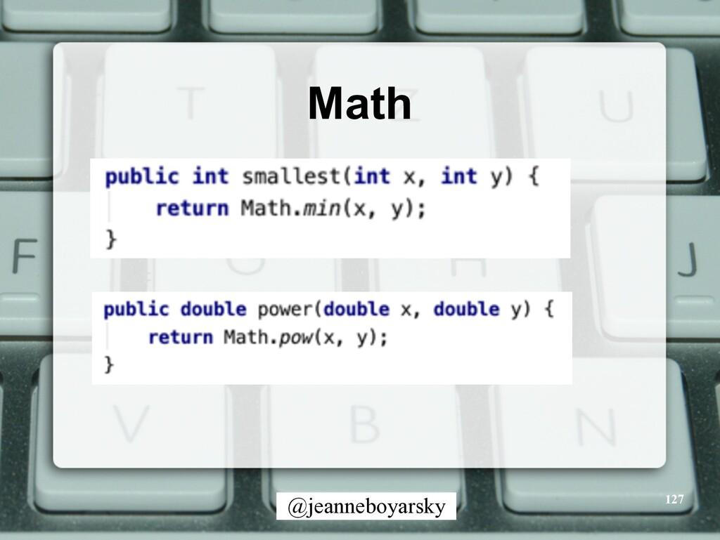 @jeanneboyarsky Math 127