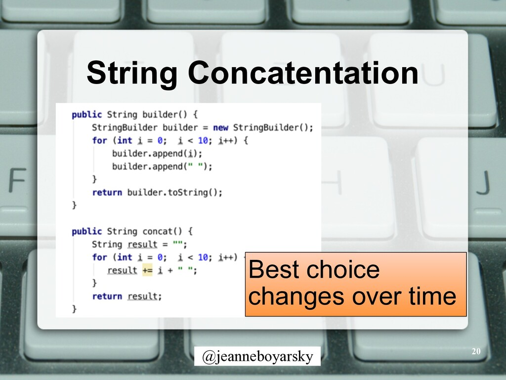 @jeanneboyarsky String Concatentation 20 Best c...