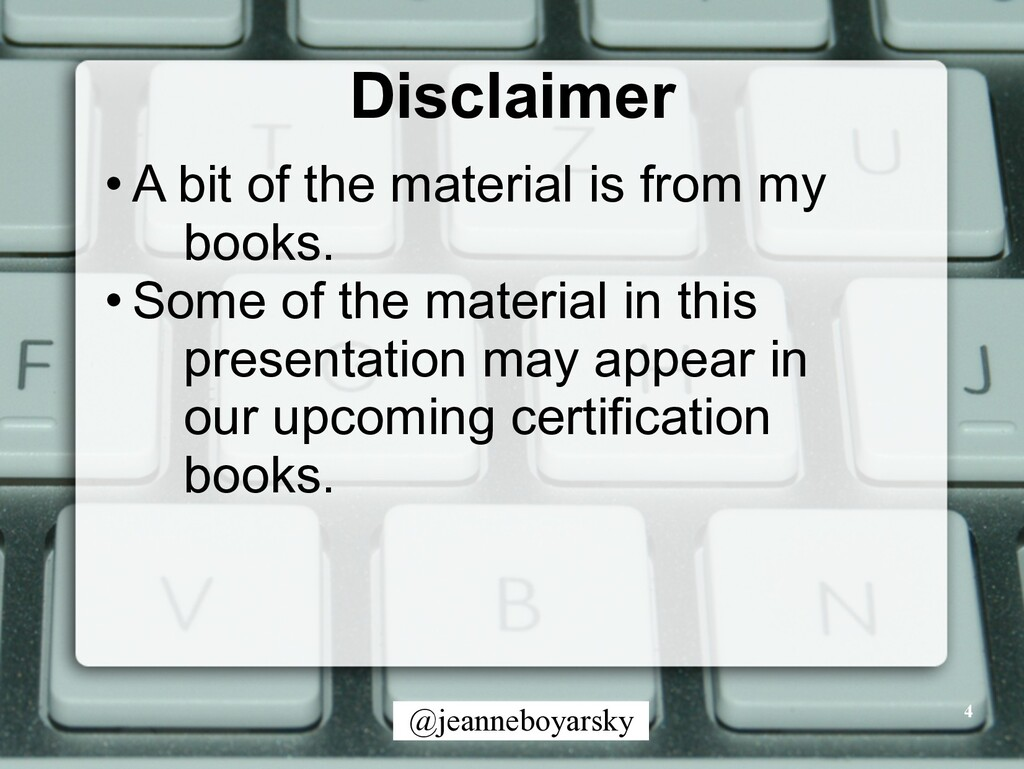 @jeanneboyarsky Disclaimer • A bit of the mater...