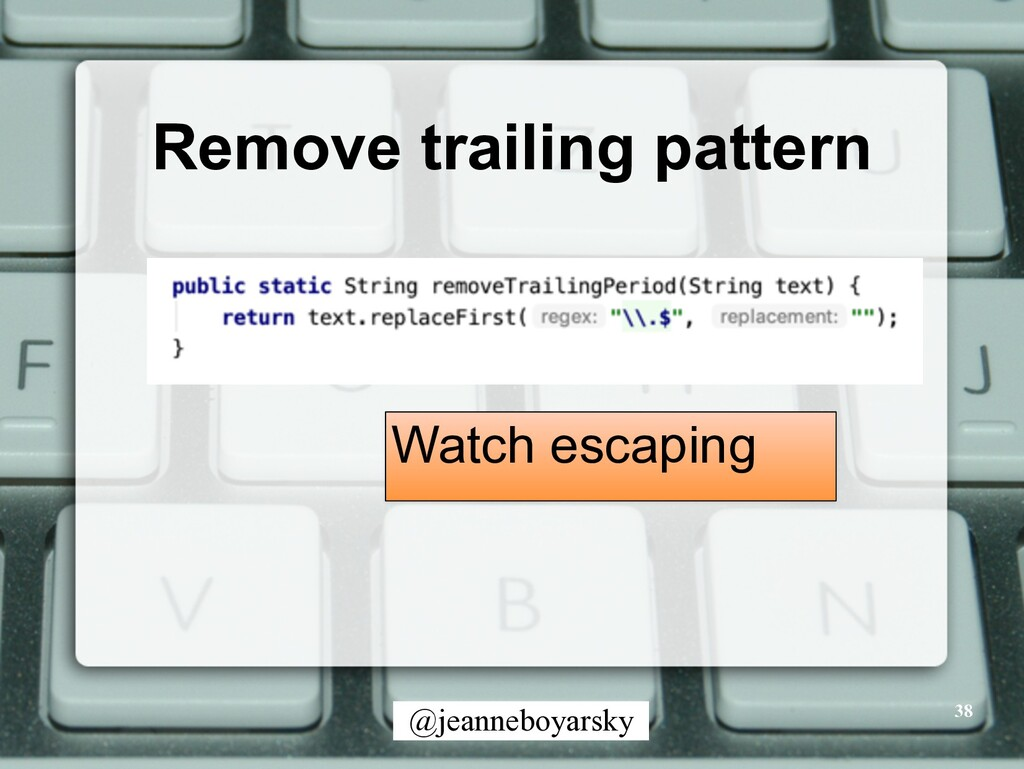 @jeanneboyarsky Remove trailing pattern 38 Watc...