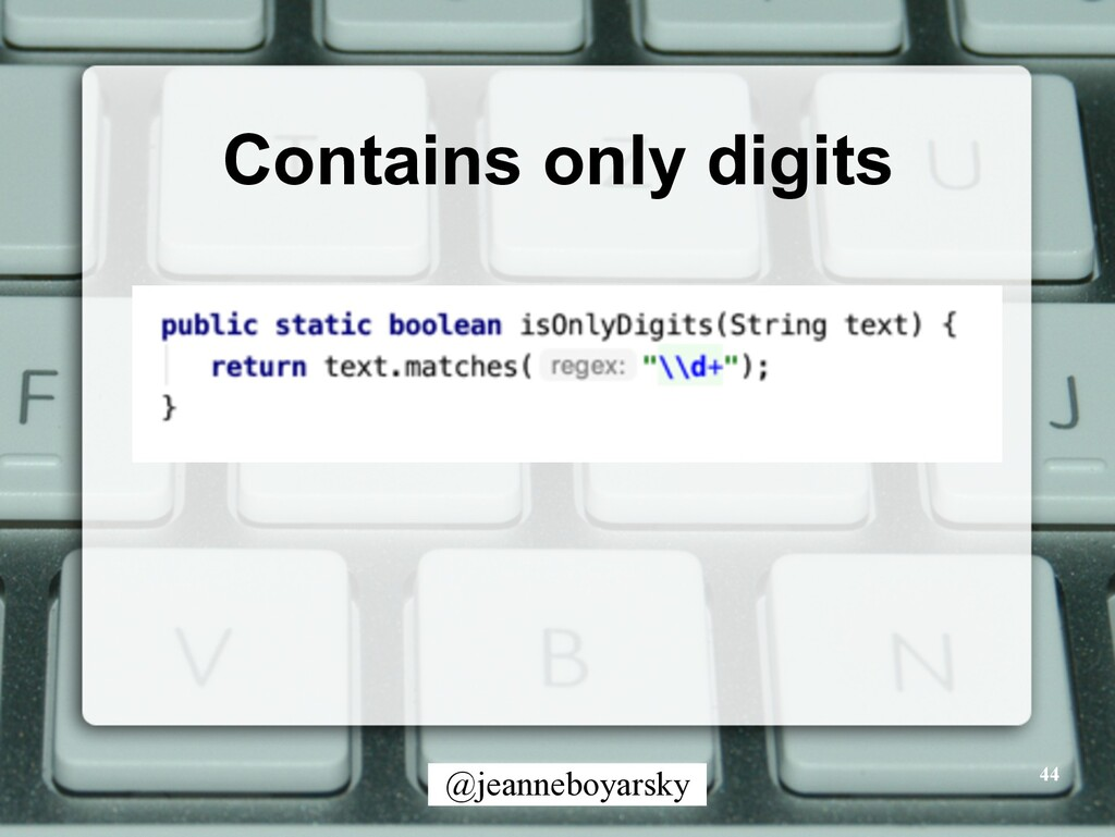 @jeanneboyarsky Contains only digits 44