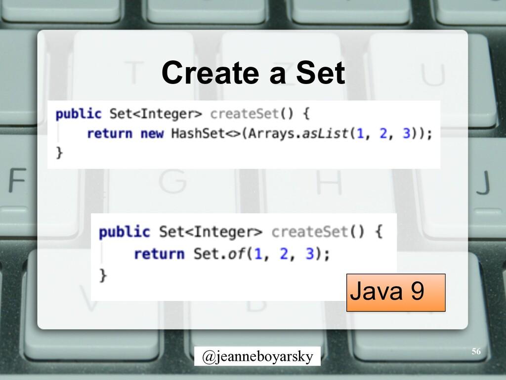 @jeanneboyarsky Create a Set 56 Java 9