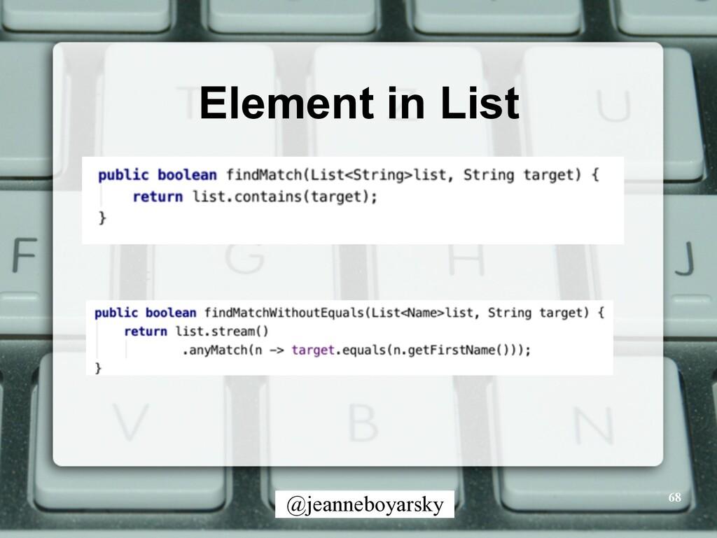 @jeanneboyarsky Element in List 68