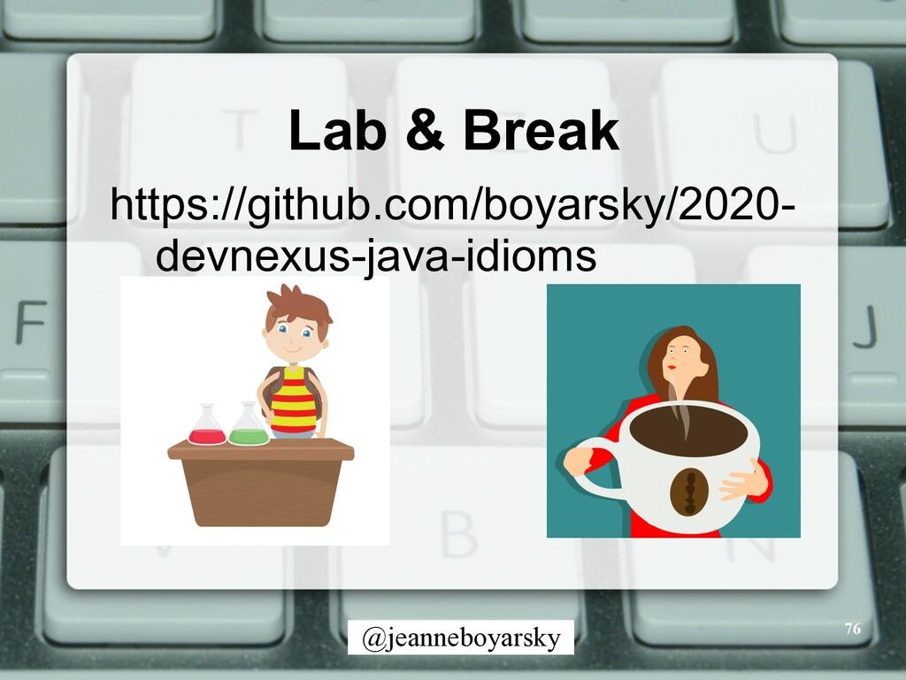 @jeanneboyarsky Lab & Break 76 https://github.c...