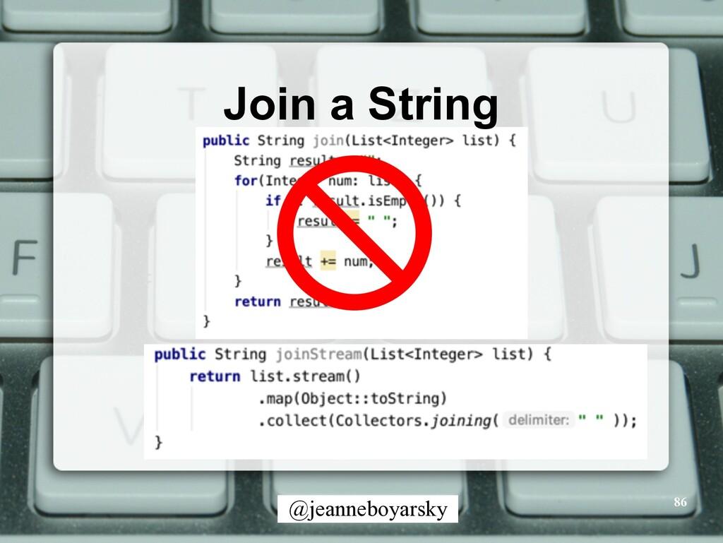 @jeanneboyarsky Join a String 86