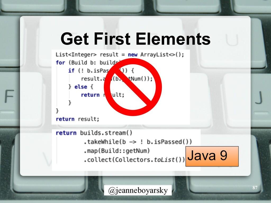 @jeanneboyarsky Get First Elements 87 Java 9