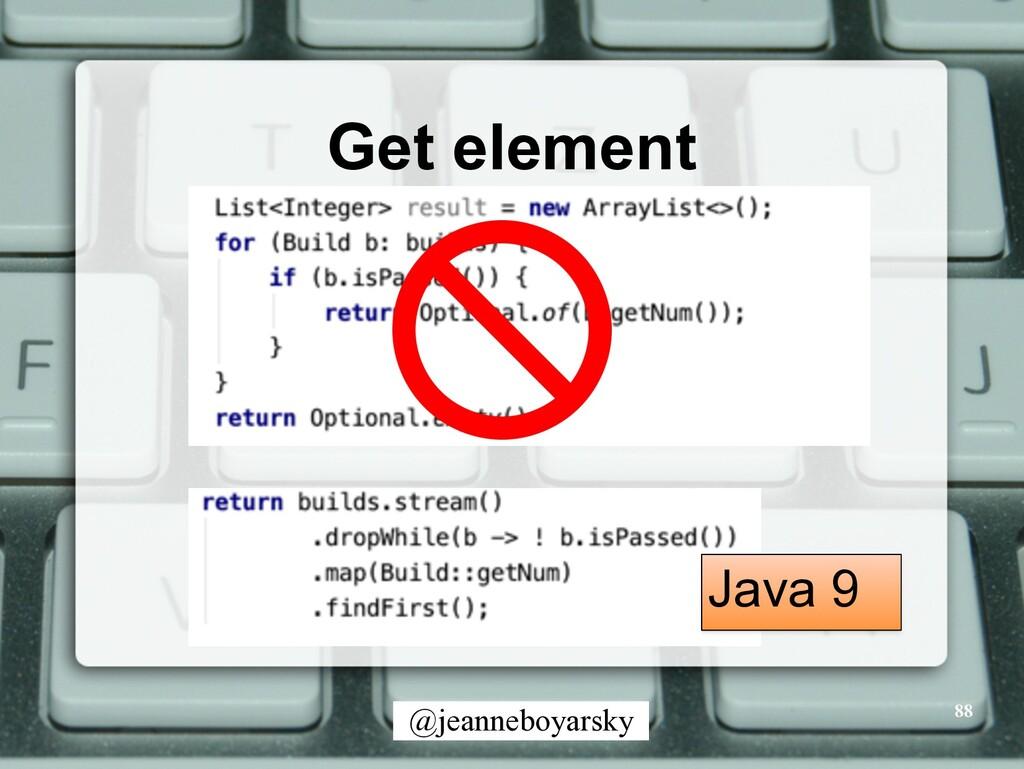 @jeanneboyarsky Get element 88 Java 9