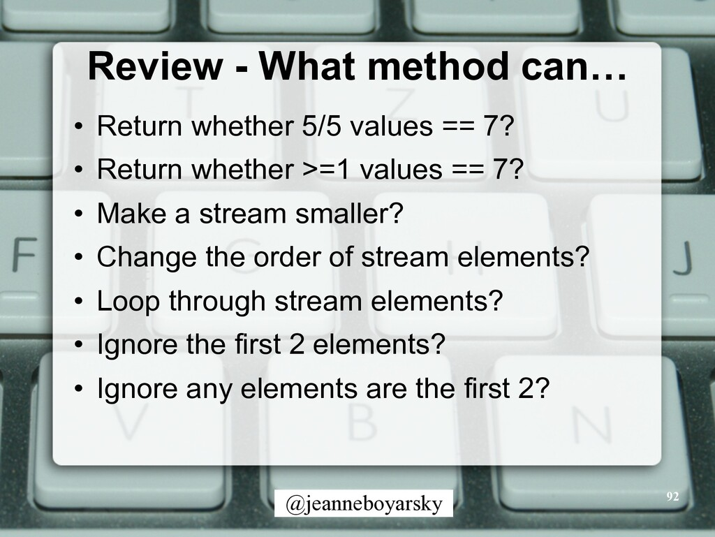 @jeanneboyarsky Review - What method can… • Ret...