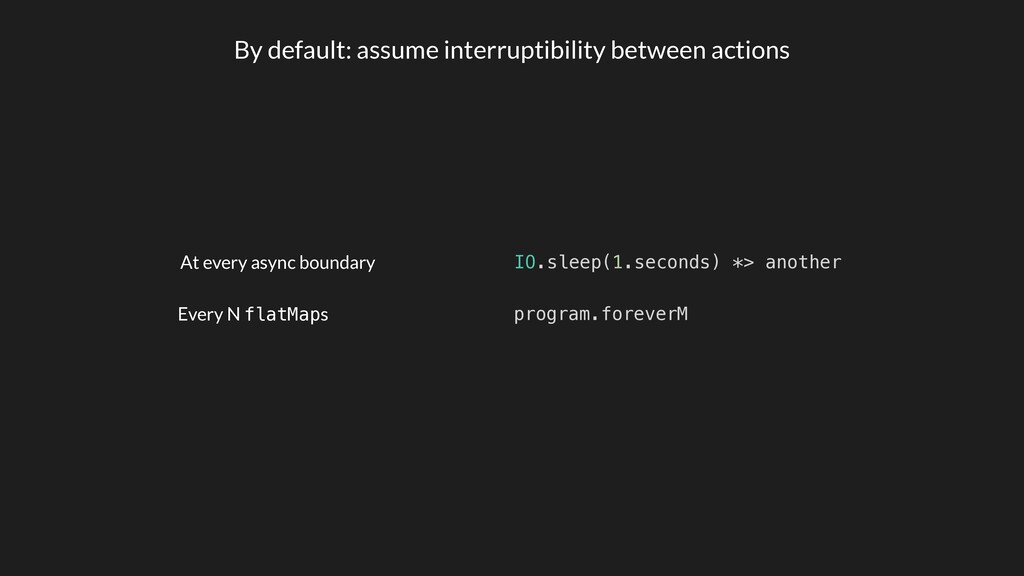 By default: assume interruptibility between act...
