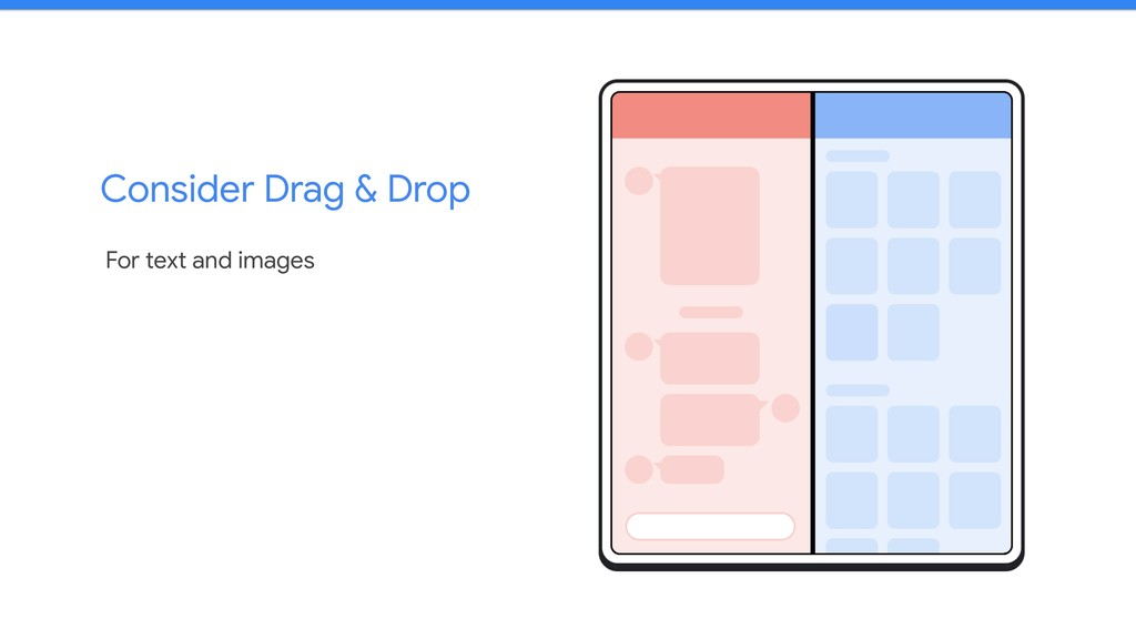 Consider Drag & Drop For text and images
