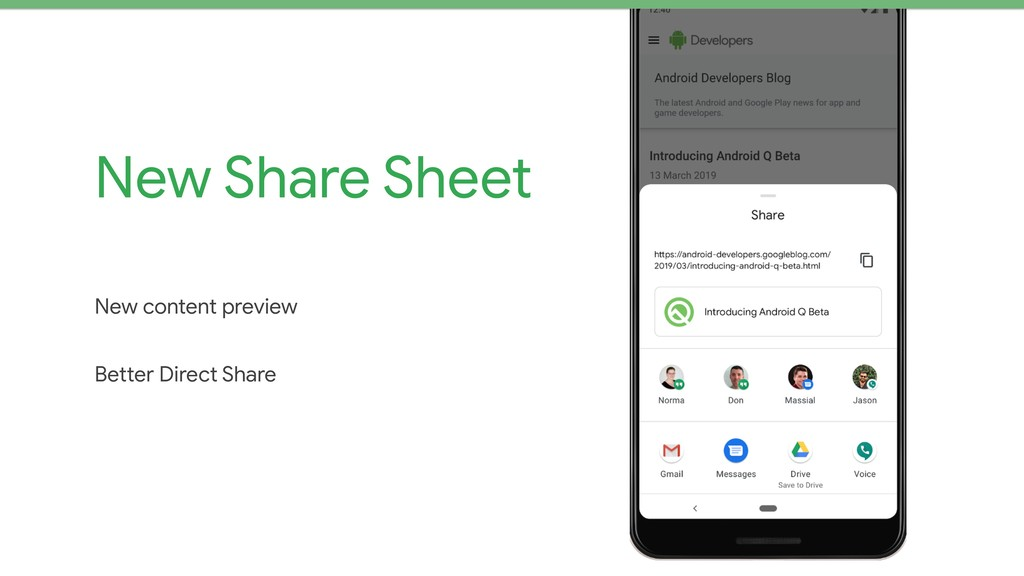 New Share Sheet New content preview  Better Dir...