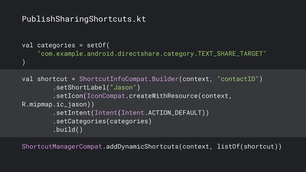 PublishSharingShortcuts.kt val categories = set...