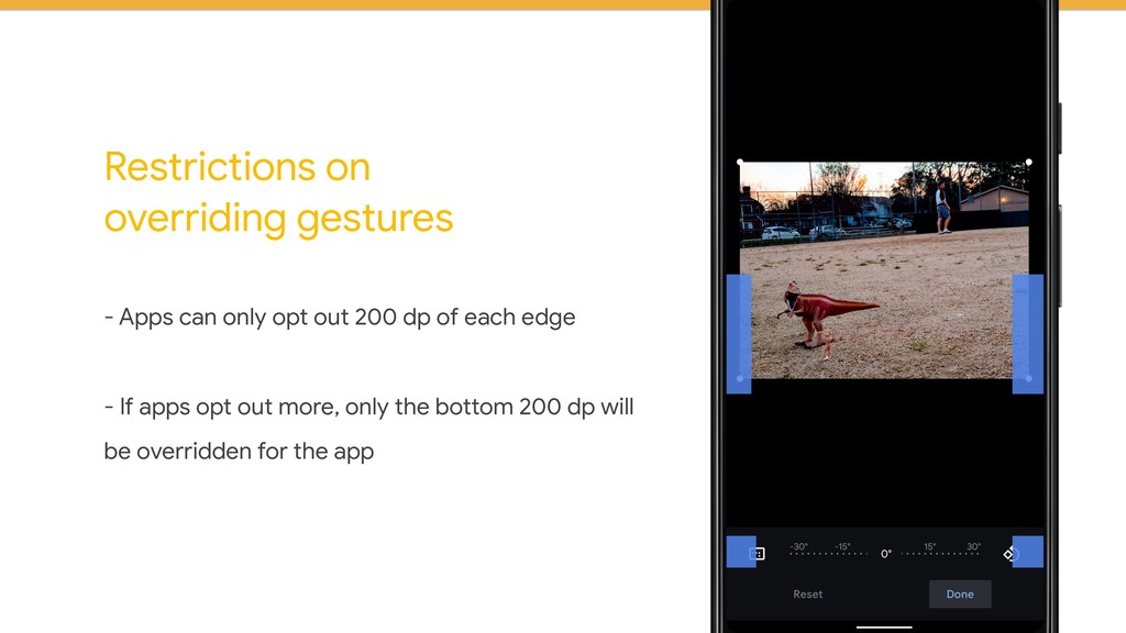 Restrictions on overriding gestures - Apps can ...