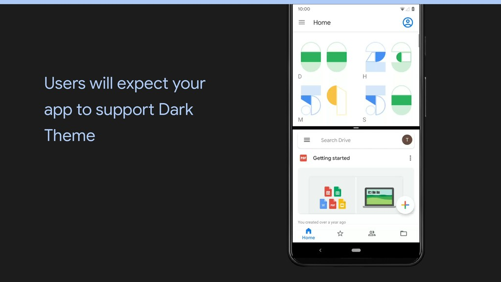 Users will expect your app to support Dark Theme