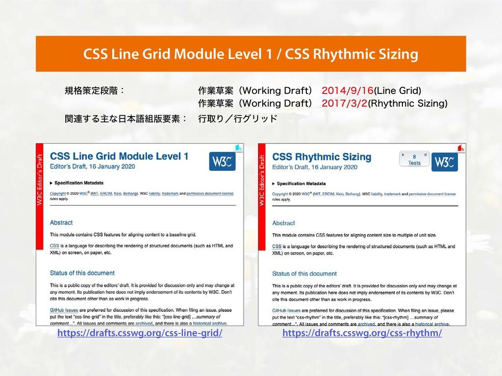 CSS Line Grid Module Level 1 / CSS Rhythmic Siz...