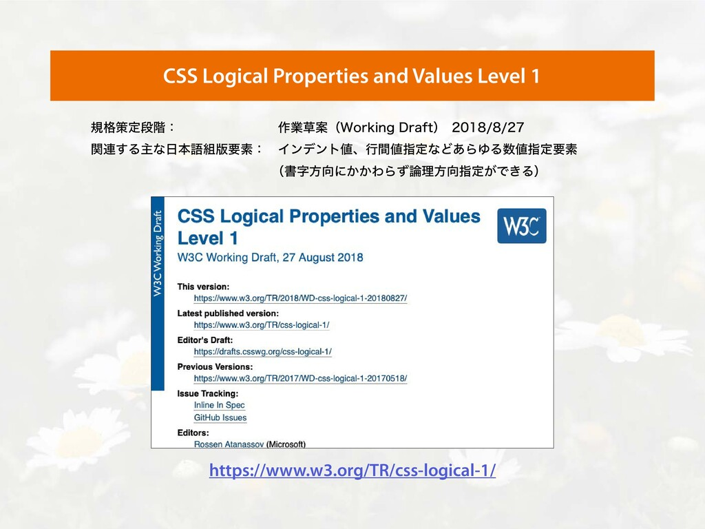 CSS Logical Properties and Values Level 1 https...