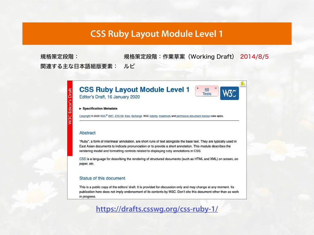 CSS Ruby Layout Module Level 1 https://drafts.c...