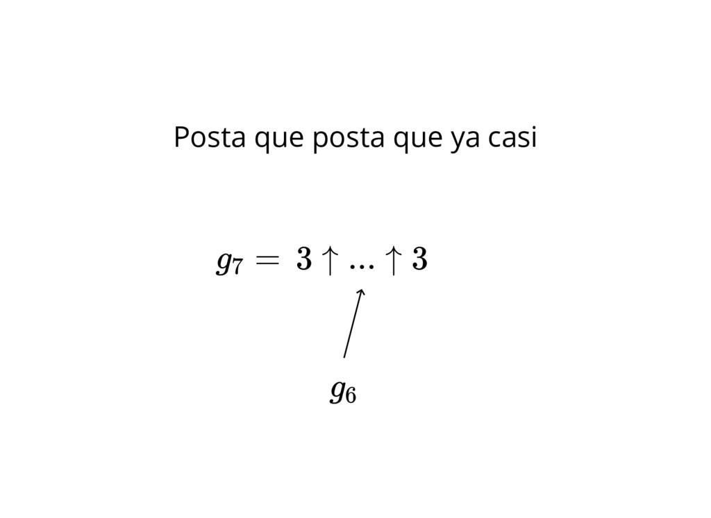3 ↑ ... ↑ 3 g6 Posta que posta que ya casi g = 7