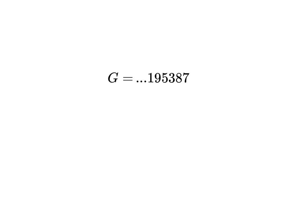 ...195387 G =