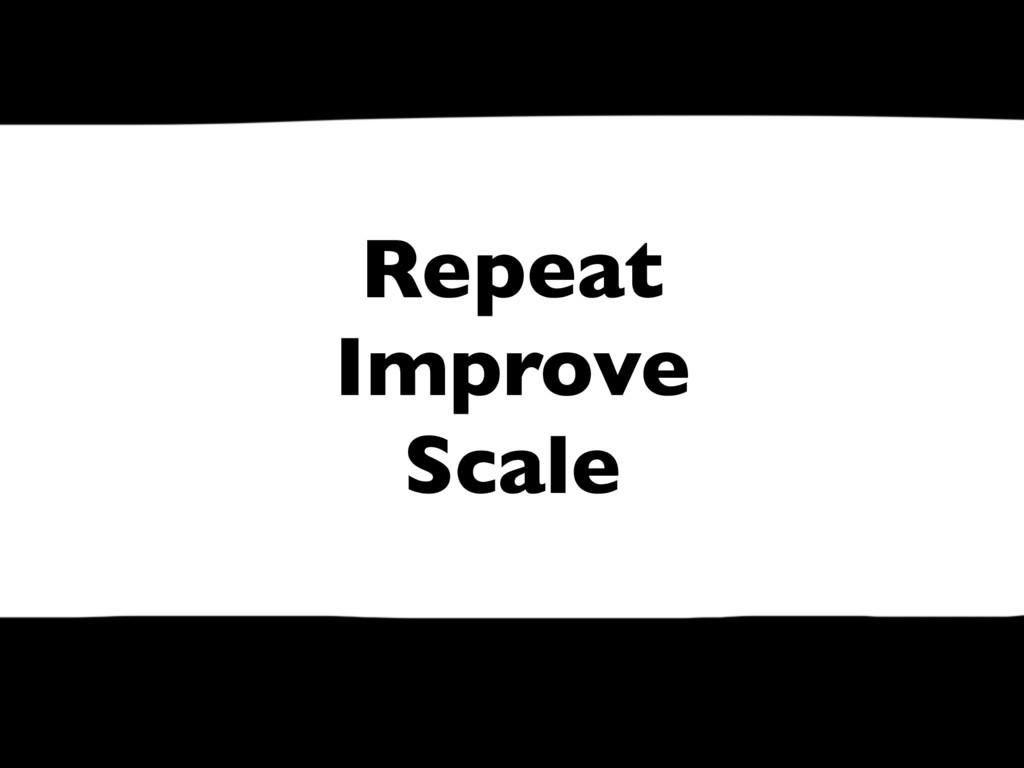Repeat Improve Scale