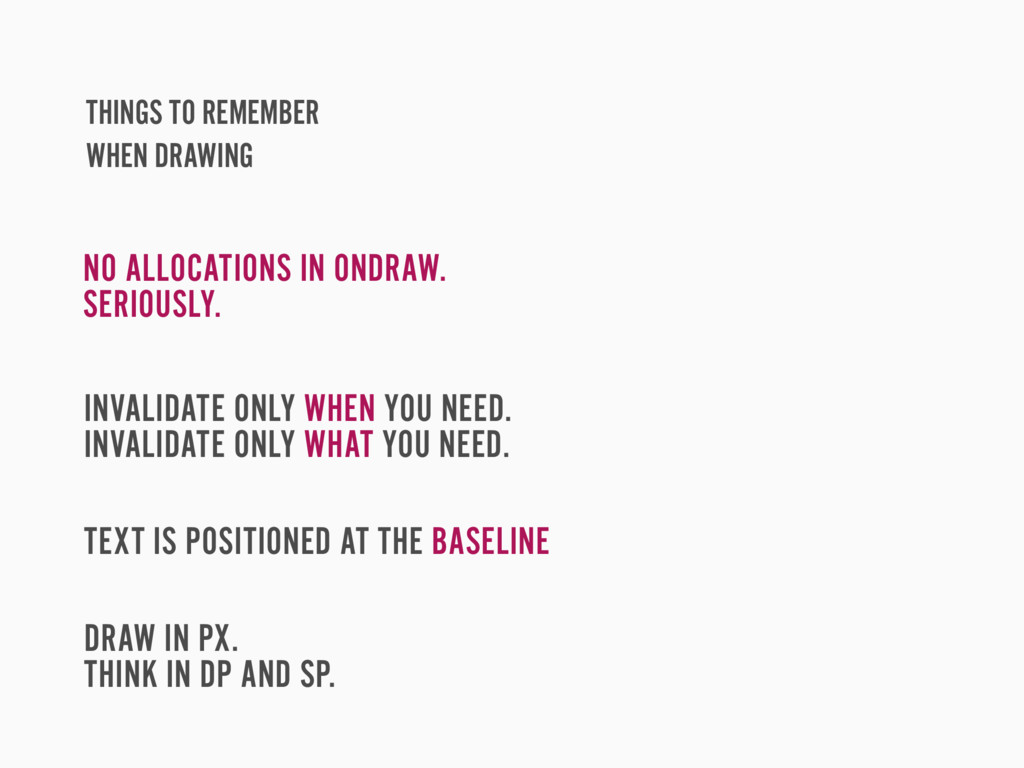THINGS TO REMEMBER WHEN DRAWING NO ALLOCATIONS ...