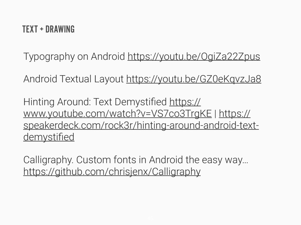 TEXT + DRAWING Typography on Android https://yo...