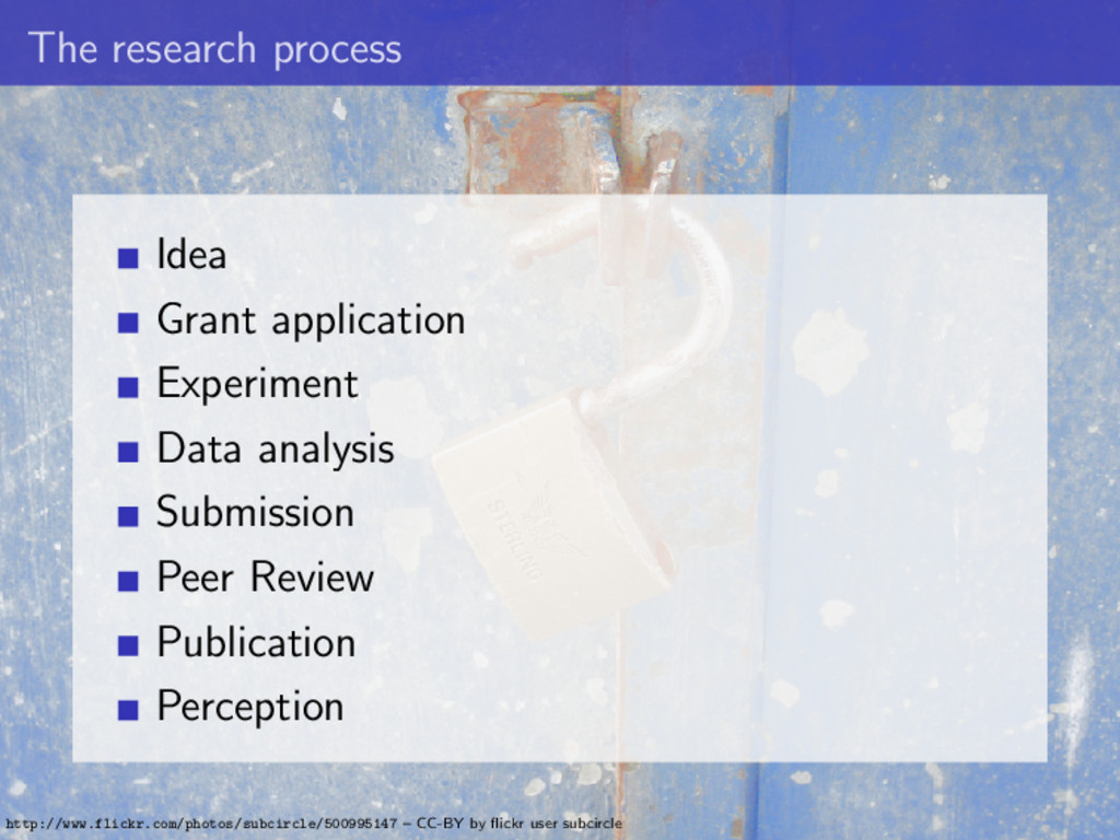 The research process Idea Grant application Exp...