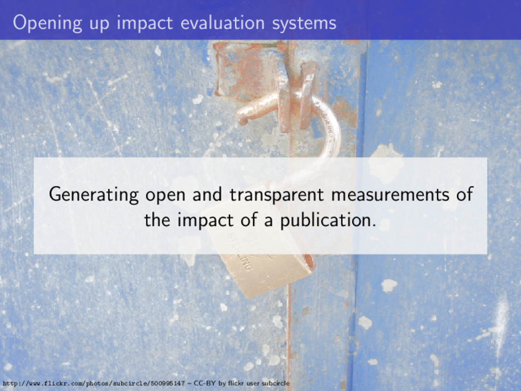 Opening up impact evaluation systems Generating...