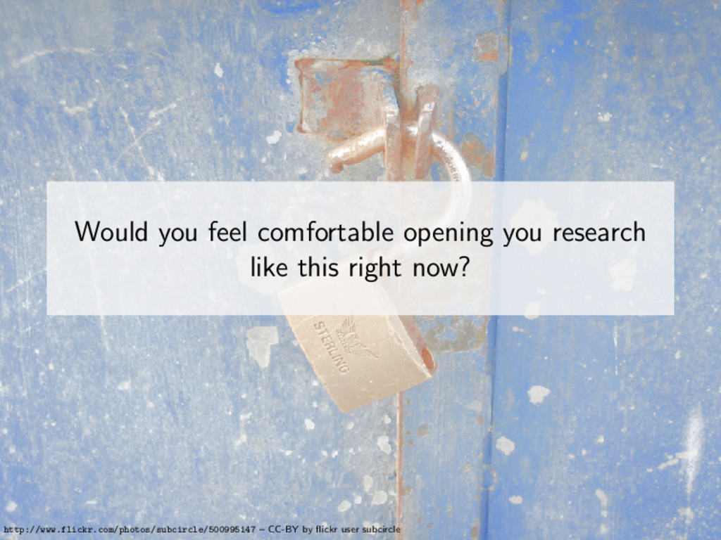 Would you feel comfortable opening you research...
